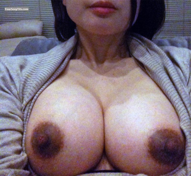 Tit Flash: My Medium Tits (Selfie) - Mika from Canada